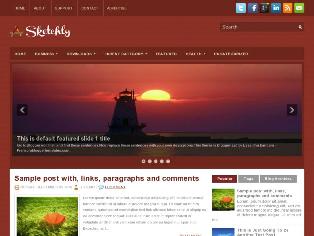 Sketchly Blogger Template