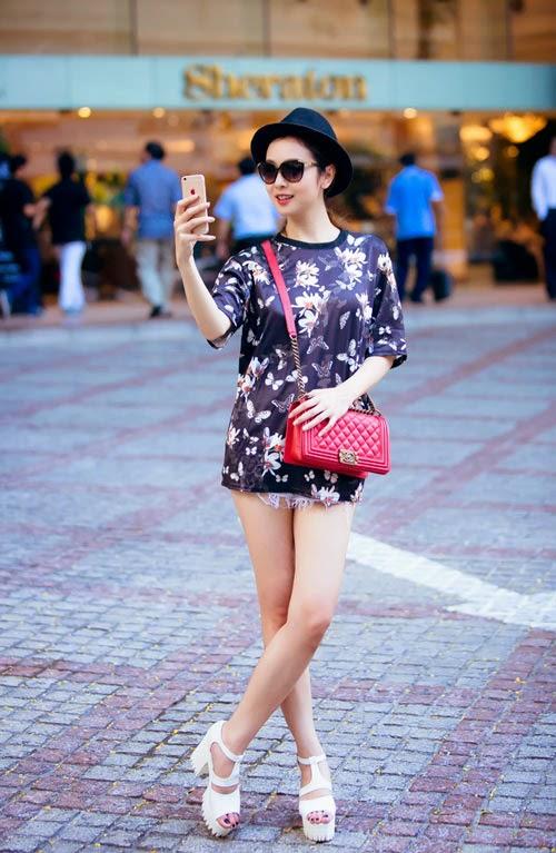Jennifer Phạm quyên quần dạo phố|raw