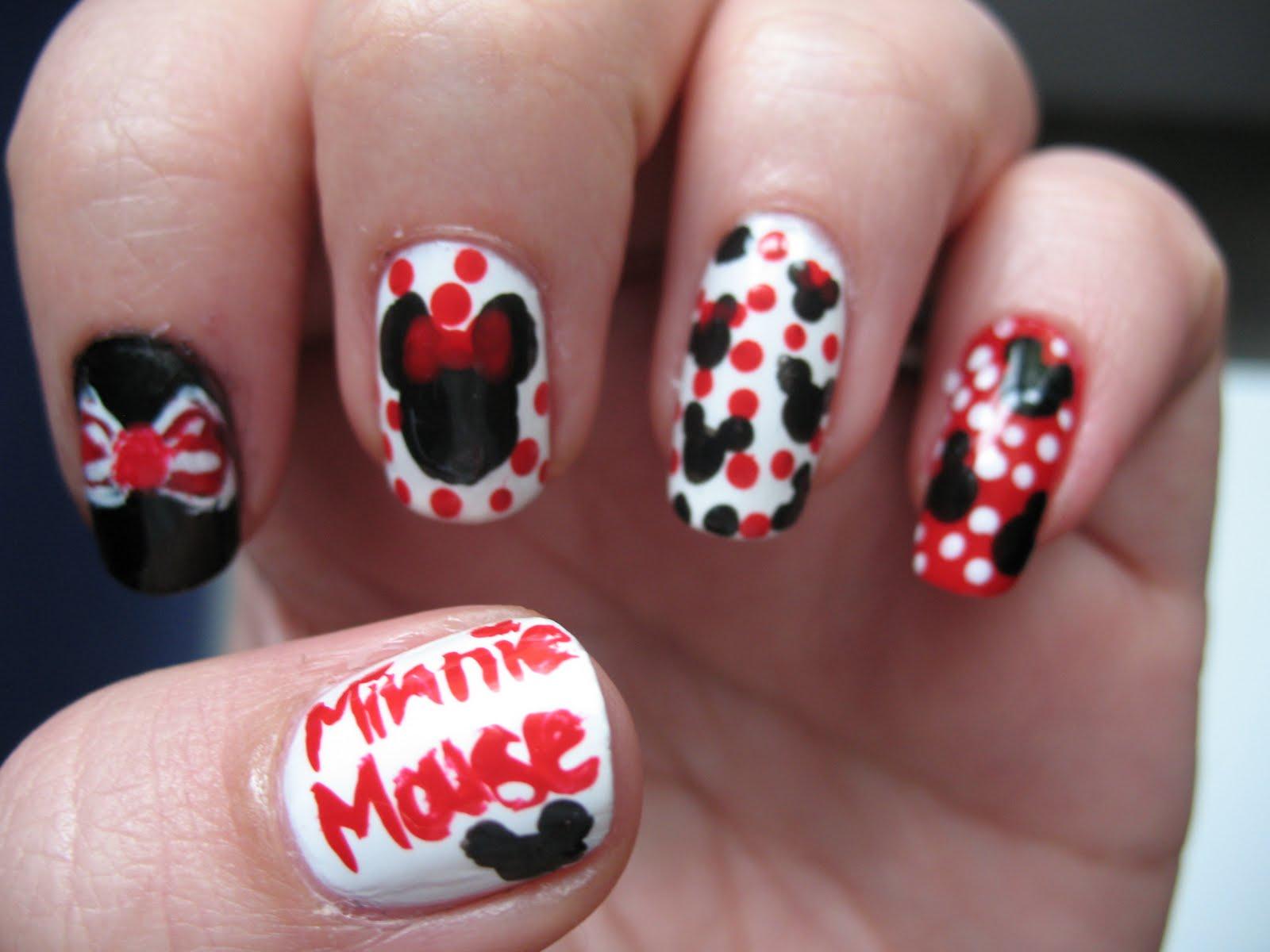 Todo Unhas: Ideas de Diseño de Uñas de Minnie y Mickey Mouse