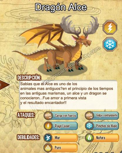 imagen del dragon alce y sus caracteristicas