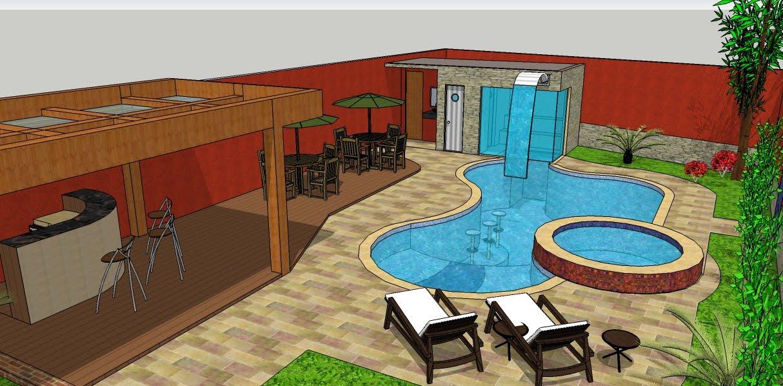 Juca ribeiro piscina vinil 3d for Piscina 3d