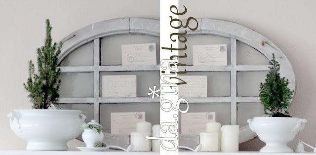 vintage winterliche deko am fenster. Black Bedroom Furniture Sets. Home Design Ideas
