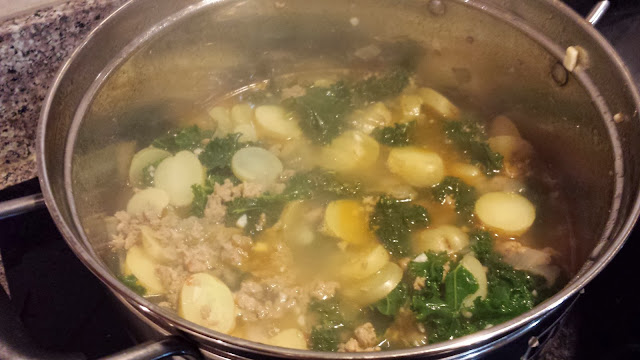 Angela's delicious Zuppa Toscana soup! Photo: Just J