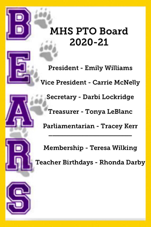 2020-2021 MHS PTO Board