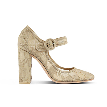 Gianvito Rossi lace block heel mary janes