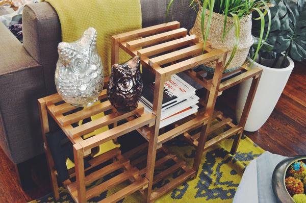 DIY metallic gold furniture
