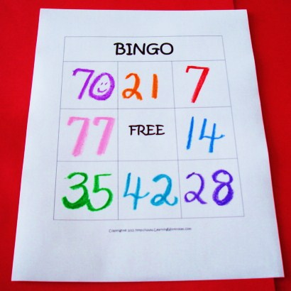 photo regarding Multiplication Bingo Printable titled Mastering Guidelines - Grades K-8: Multiplication Bingo Video game