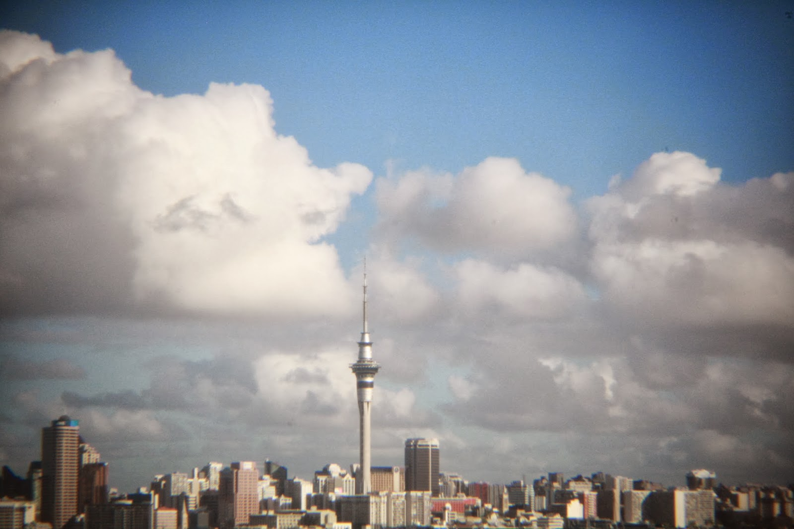 The sky tower. Auckland, New Zealand. Home.