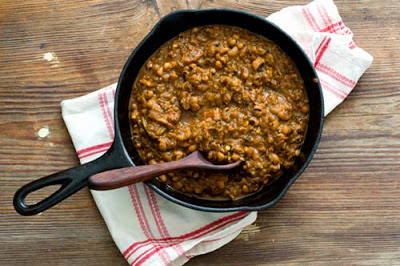 barbecue baked black-eyed peas