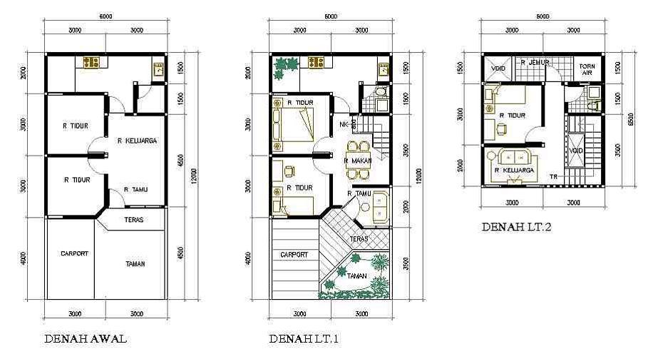 desain denah rumah type 36 yang menarik