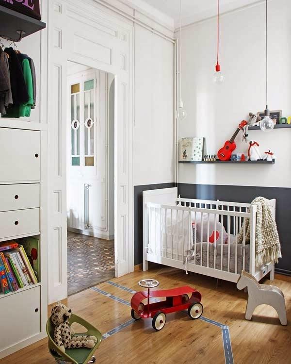 Bittelitens lille hjørne: lyse nordiske barnerom