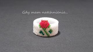 ring peyote rose