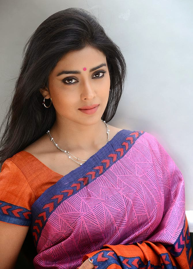 Shriya Saran Latest Saree Photos