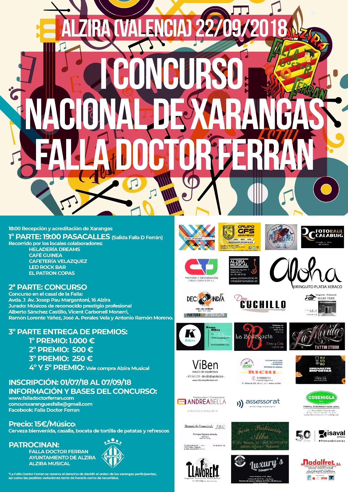 "1º CONCURSO NACIONAL CHARANGAS ""A.C. FALLA DOCTOR FERRAN"""