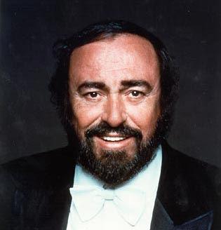 Fotografía de Luciano Pavarotti