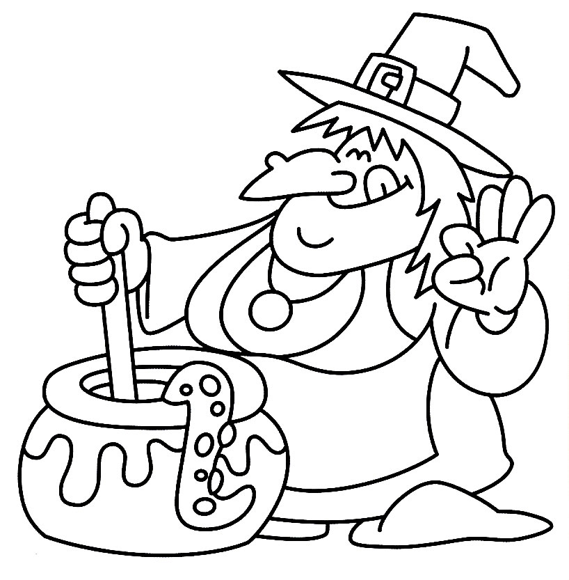 halloween witch coloring pages - photo#26