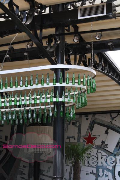 decorar con botellines de cerveza