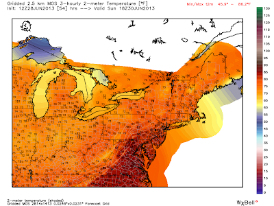 Northeast Weather Action: Sunday's Forecast Highs Across The Region