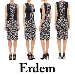 ERDEM Nell Dress and LK BENNETT Pumps Style of Sophie, Countess of Wessex