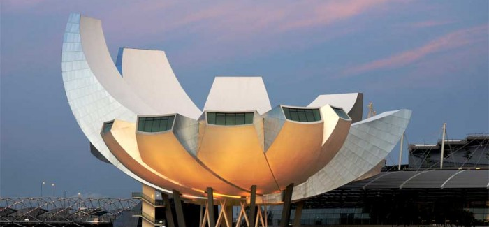 lotus flower artscience museum in singapore by architect
