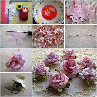 how to make a rose out of material