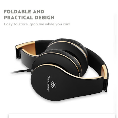 Sound Intone i65  Headphones Folded