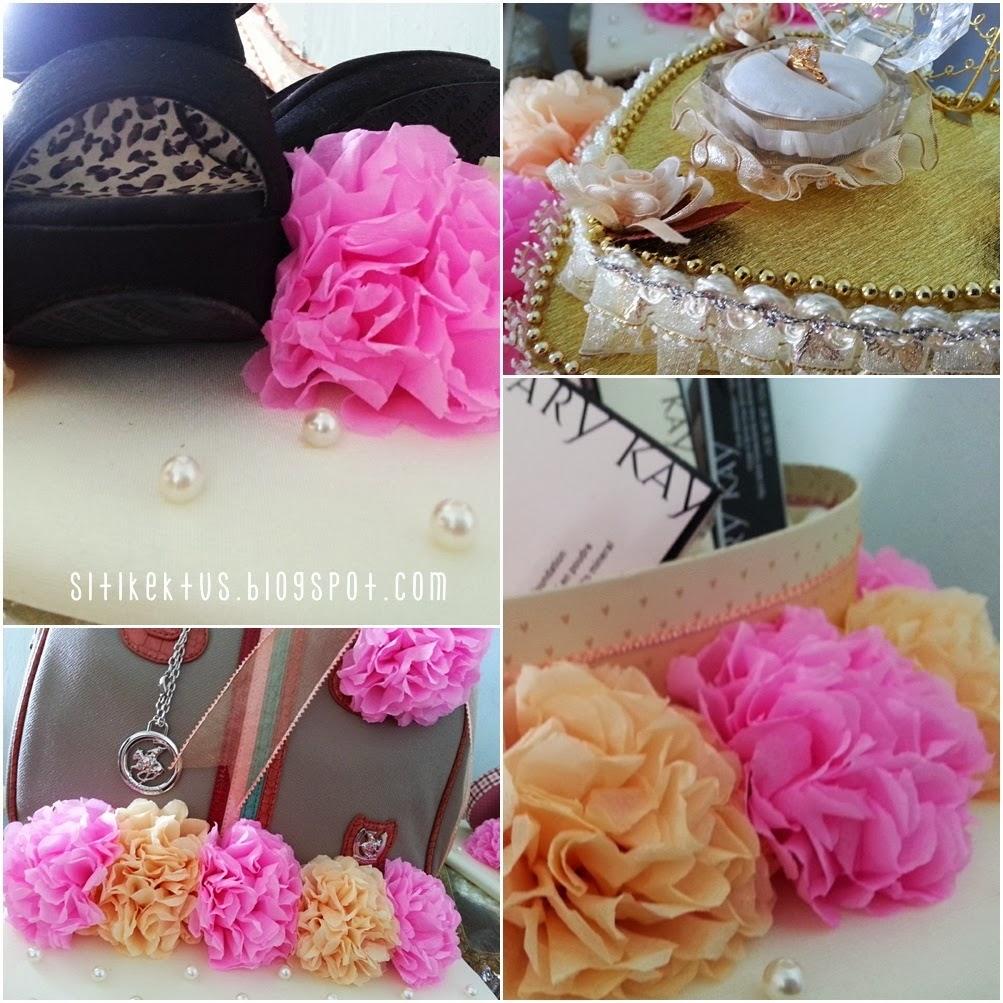 Bunga Kertas Tisu sebagai Hiasan Hantaran Pertunangan {DIY}   Siti ...