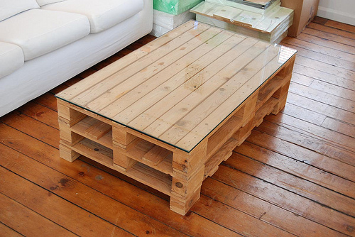 Pallet Coffee Tables - Big Sq. Espresso Table - Pallet Furniture