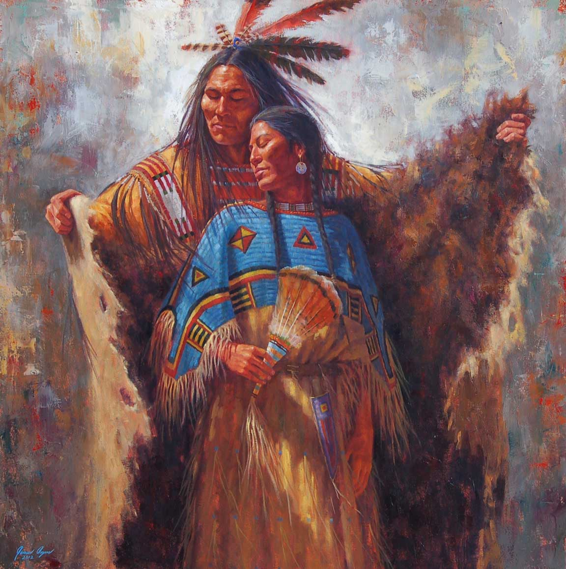 20 James Ayer s outstanding paintings of Native American historyNative American Women Artists