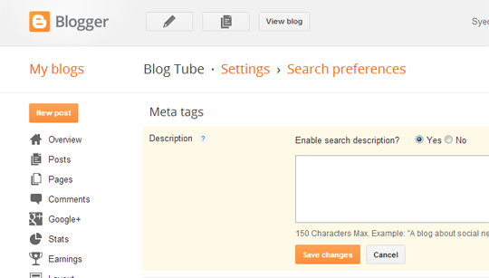 Meta Description Settings