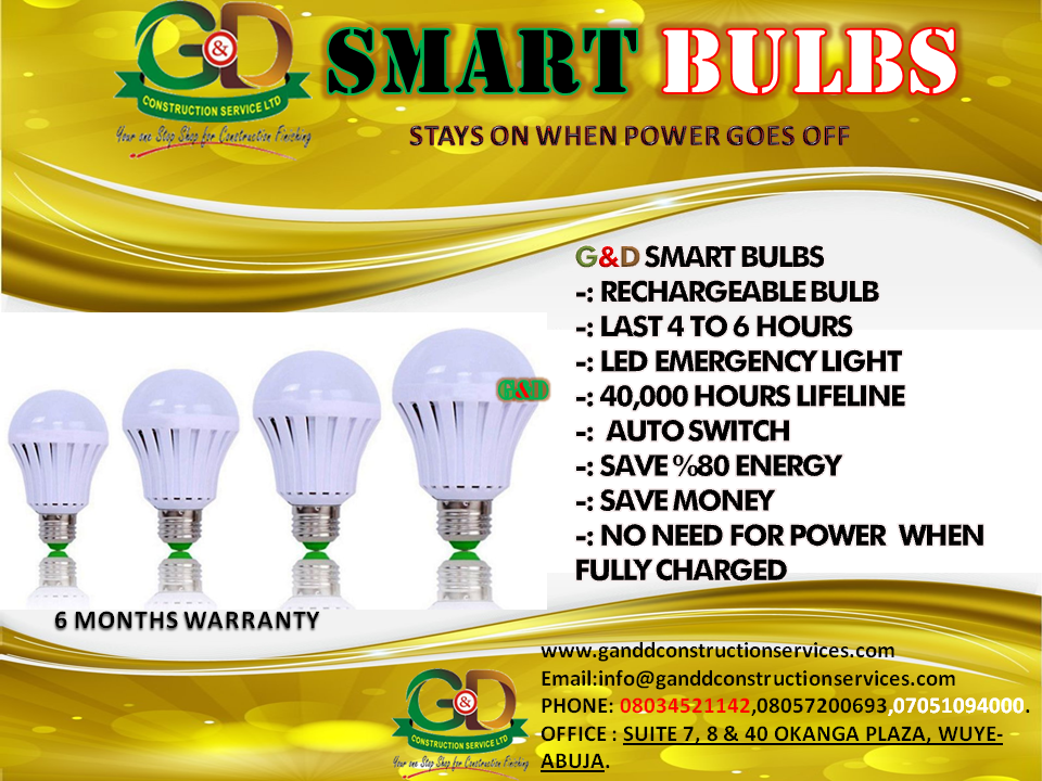 G&D Smart Bulbs (rechargeable)