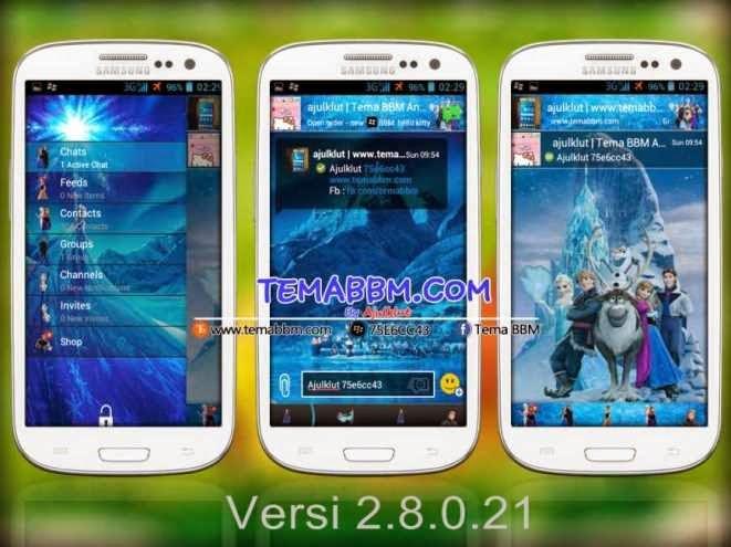 Tema BBM Frozen Versi 2.8.0.21