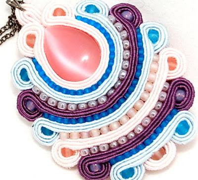 sutasz naszyjnik wisior  soutache pendant necklace 7