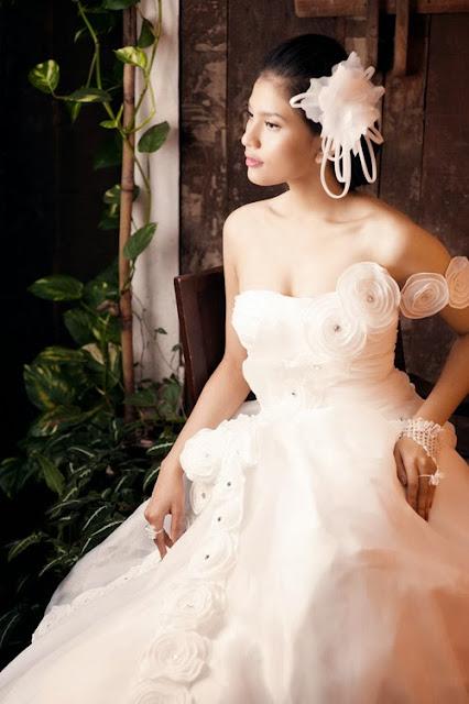 chọn trang phục cưới cho cô dâu da bánh mật