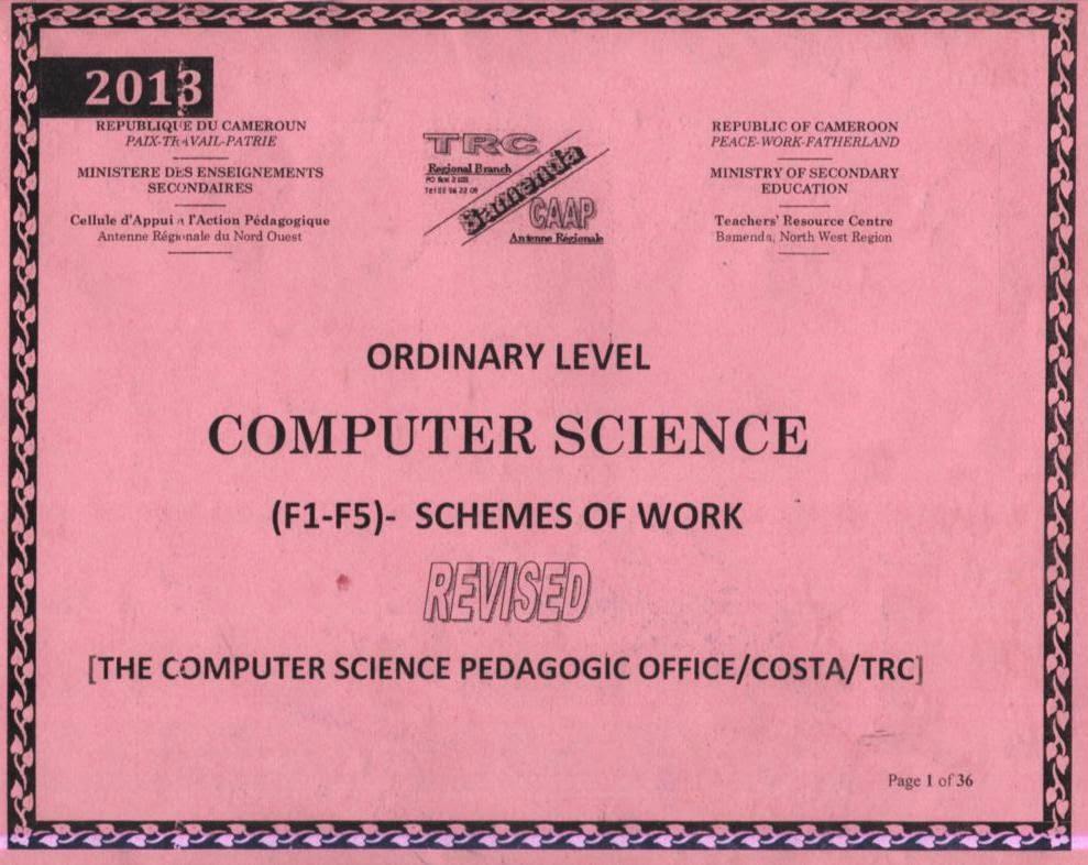 syllabus and scheme of work