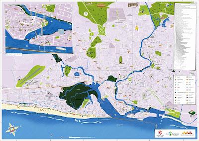 Mapa turístico de Recife