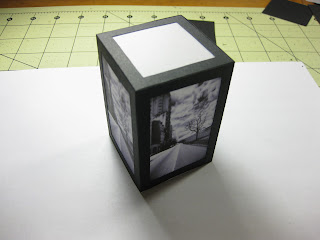 Constructed LED paper lamp.