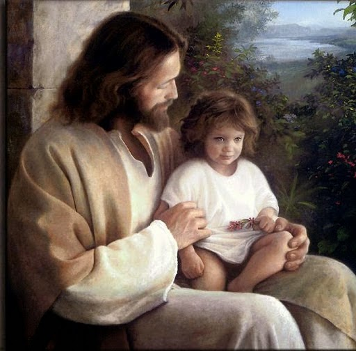 """Jesus called a child to Him..."" - Artist unknown"