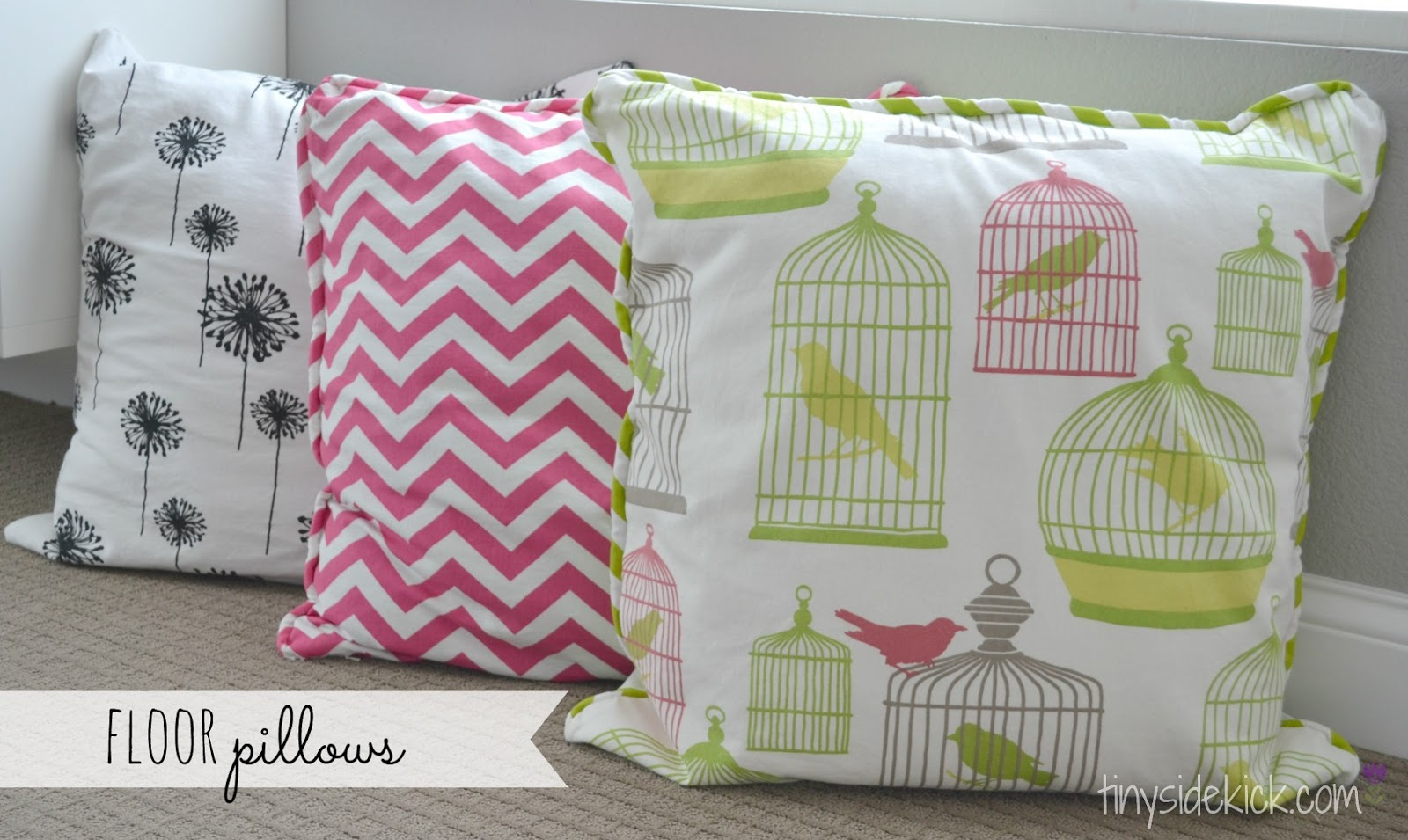 Zippered Floor Pillows : DIY Zippered Pillow Covers Install a zipper washable pillow covers