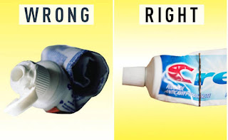 Squeezing the last bit of toothpaste out of the tube. Instead of trying to do it with your bare hands, use a bobby pin!