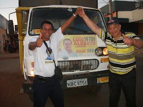 Catireiro é o primeiro homem da comunicação local que sobe na boleia do caminhão de Jiribita