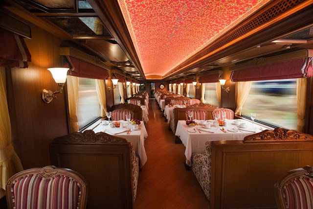 Rang Mahal Dining Car. Maharaja Express Train