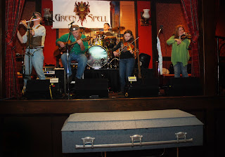 Green Spell playing at the Irish wake in Seaside Heights to benefit the Ocean County St. Patrick's Day Parade (Photo: Jim Lowney)