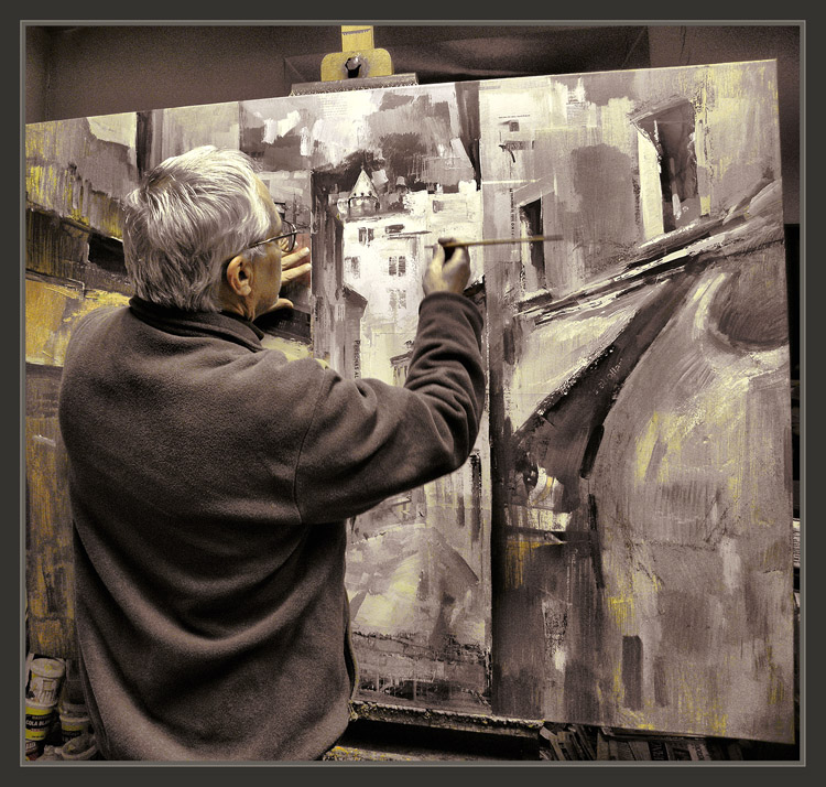 Ernest Descals.Artista Pintor: PINTOR-TRABAJO-PINTANDO-ESTUDIO ...