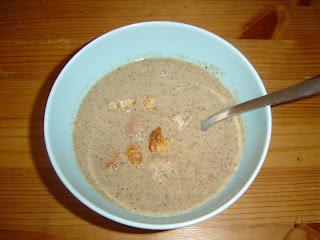 Krémová žampionová polévka - recept