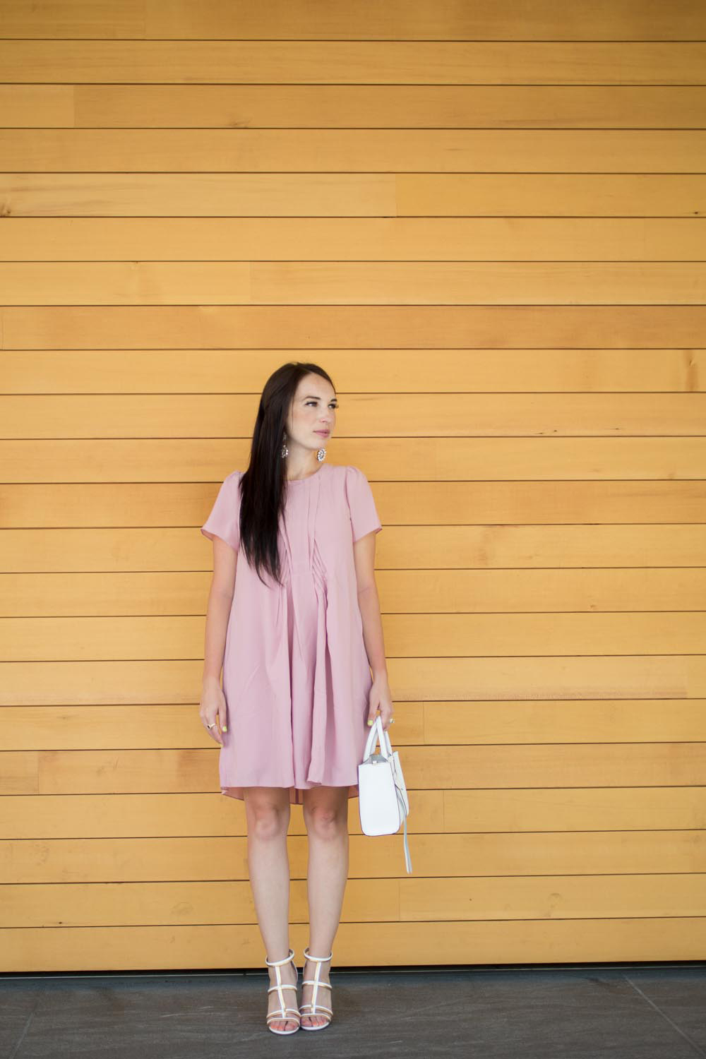 Blush Pink and White Summer Style