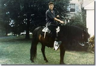 Elvis Presley+horse
