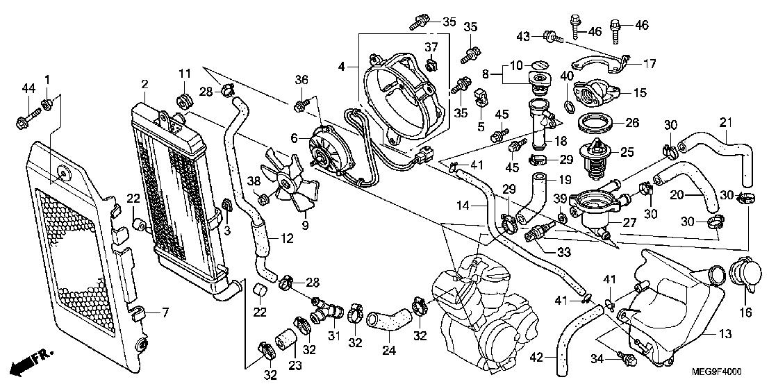 Esplosi Honda Black Spirit