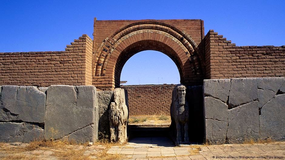 The ancient Assyrian city of Nimrud, which was destroyed by ISIS on March 5
