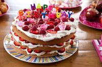 Pastel con mensaje de Feliz Cumpleaños o Happy Birthday